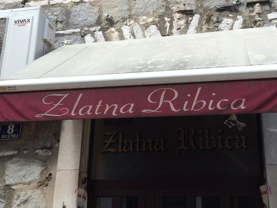 Buffet Zlatna Ribica: Sign out front