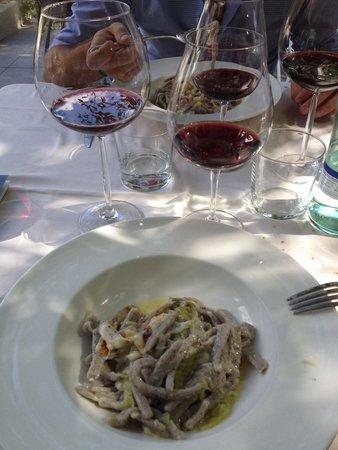 Crotasc : Pizzoccheri accompagnati da calice di Albareda e Corte di Cama