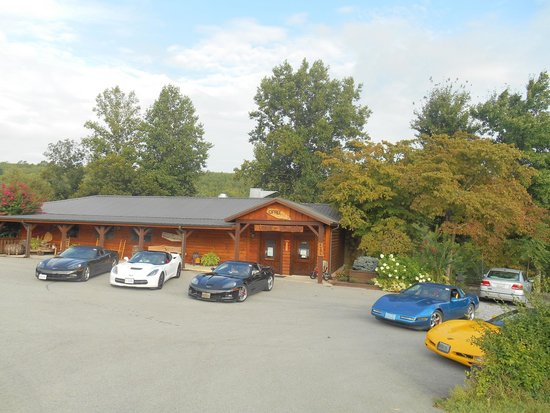 The Lodge At Tellico: Our 'Vettes in front of the office