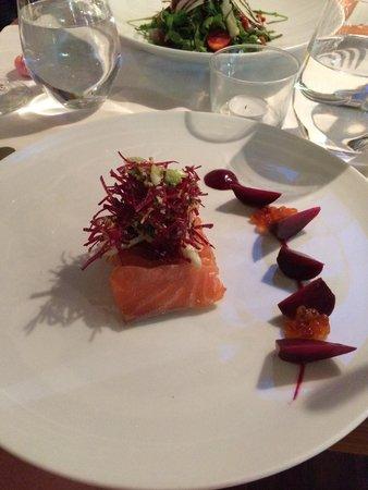 Eat at Milton's: Salmon sashimi