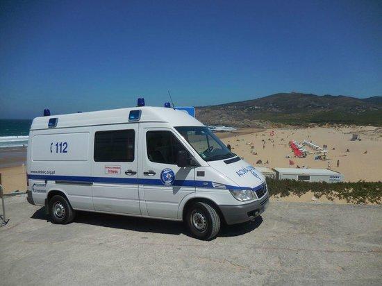 Guincho Beach: The ambulance was alrady waiting