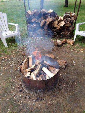 Dwight Village Motel: Lots of free wood