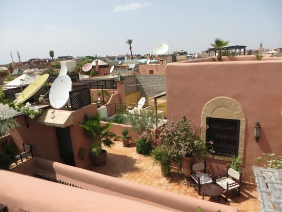 Riad Itrane : View from the roof terrace