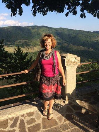 View from Preggio - on my way to dinner at La Castagna in Preggio in Umbria