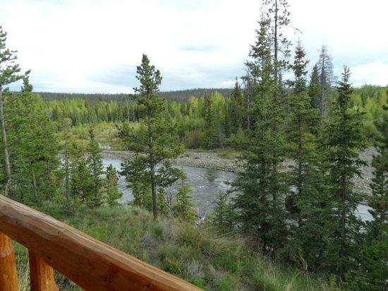 Big Creek Lodge: Aussicht auf den Fluss