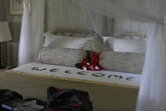 The Cotton House: Bed upon welcome