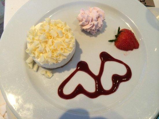 Ardmore House : White Chocolate cheesecake.