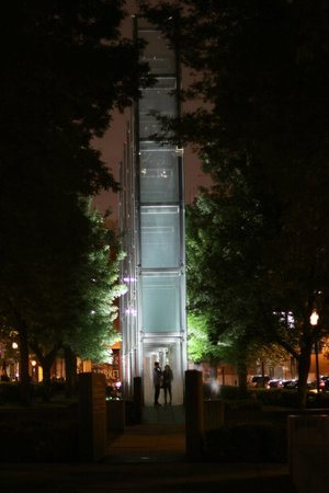 New England Holocaust Memorial: At night