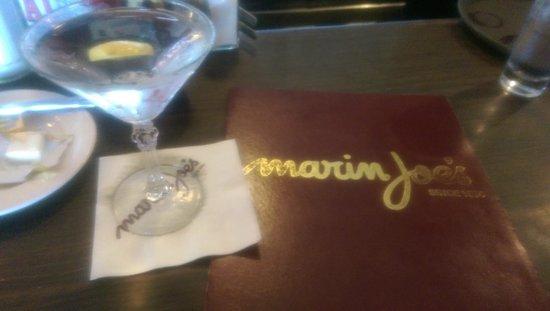 Marin Joe's Restaurant: Marin Joe's Bombay Sapphire martini up with a twist