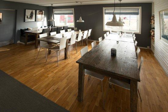 Isfjord Radio: The main dining area