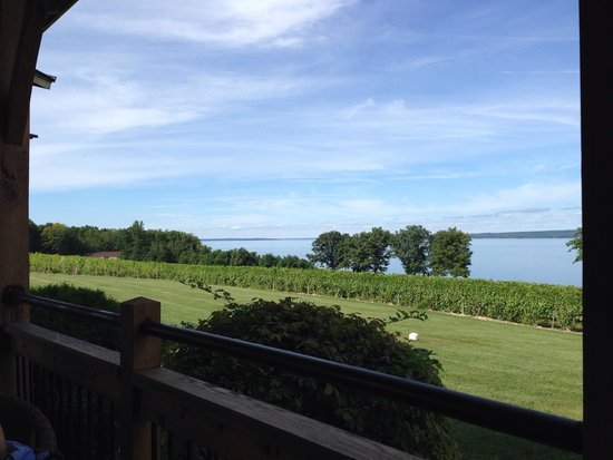 Driftwood Inn Bed and Breakfast: View on Cuyuga Lake from the Thirsty Owl Winery