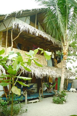 Camping Iguana: Haupthaus mit 2 dz cabanas.