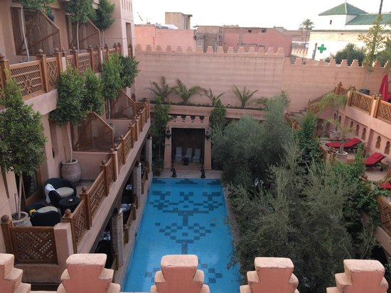 La Maison Arabe: View from balcony of room