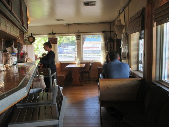 Crazy Mary's Fish and Chips : inside seating; counter & tables