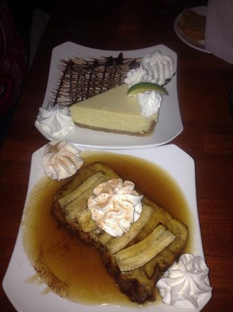 Gulfshore Grill: Key Lime Pie and Bananas Foster Monkey Bread Dessert