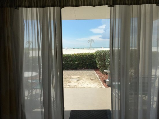 Private Outdoor Patio Then The Beach Picture Of Wyndham Garden Fort Myers Beach Fort Myers
