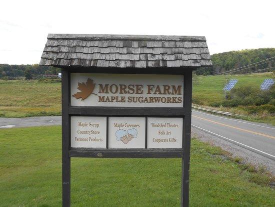 Morse Farm Maple Sugarworks: sign at the entrance