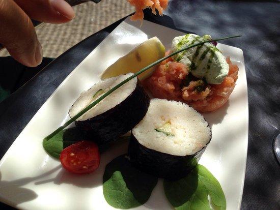 Le Sud : Tartare de saumon et maki avocat