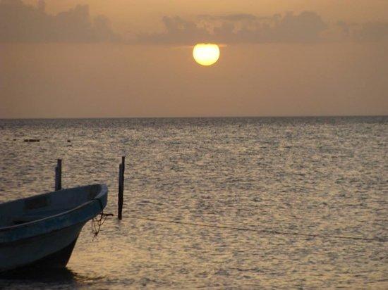 Tribu Hostel: atardecer en el muelle