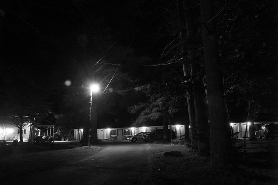 Acadia Pines Motel: View of rooms from the road.