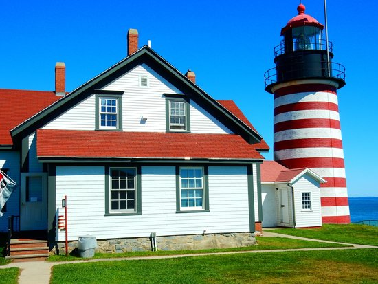 West Quoddy Head Light : Beautiful Grounds surround the Light
