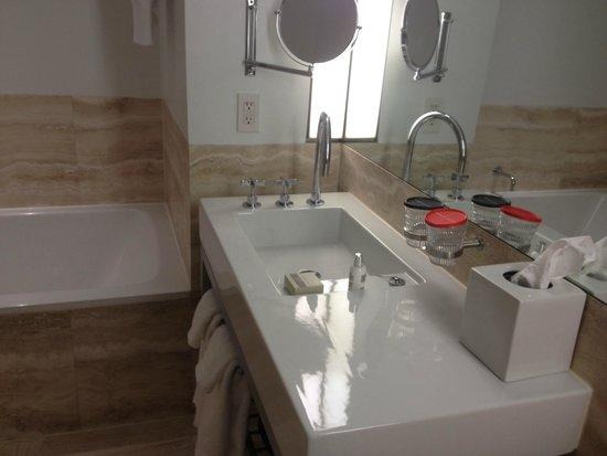 The Bryant Park Hotel: The GIANT bathroom (1)