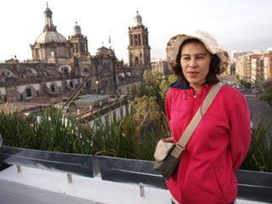 Hostel Mundo Joven Catedral: 屋上食堂からの眺め。