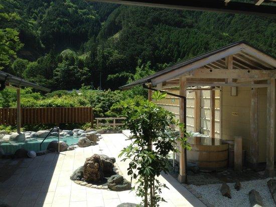 Michi-no-Eki Iitaka: 温泉の様子