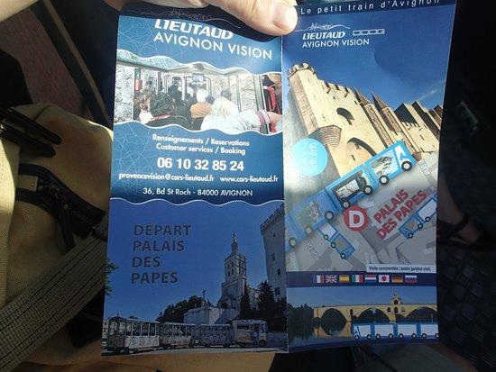 Petit Train Avignon: パンフレット表