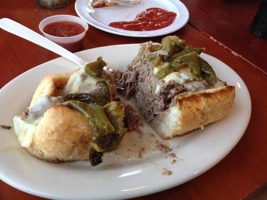 Schererville, IN: Monster Italian Beef sandwich