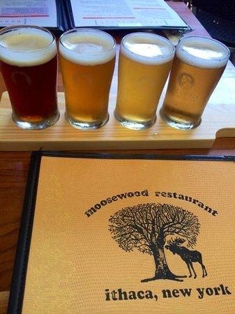 Moosewood Restaurant: mmm flight of beer.