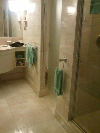 Hawaii Prince Hotel Waikiki: 奥がトイレで、手前がシャワー。独立しているので使いやすい。