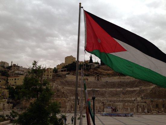 Amman Pasha Hotel : 徒歩五分でコロシアムに到着。