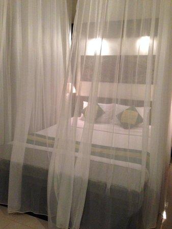 Anini Raka Resort & Spa: Mosquito netting around the bed