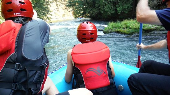 Zoller's Outdoor Odysseys: Guides will give you an opportunity to ride up front. You will get soaked!