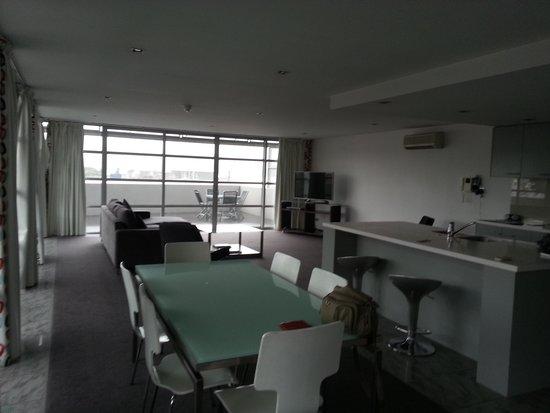 Zero Davey Boutique Apartment Hotel: Kitchen/lounge