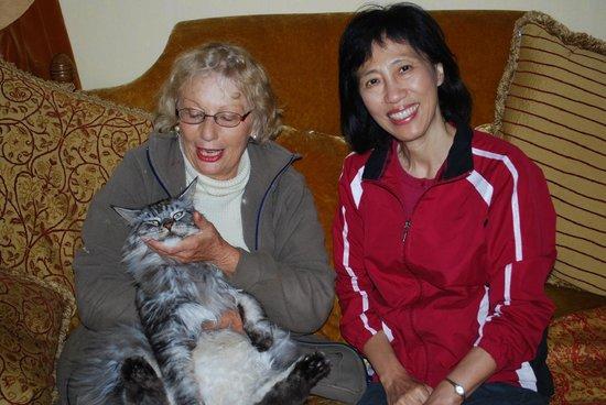 Thornley House: Ellen and Grace enjoying a friend