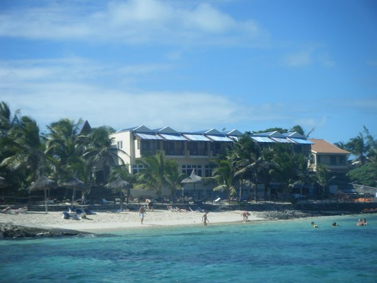 Blue Lagoon Beach Hotel: hotel from the boat