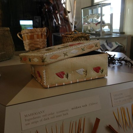 Museum of Ojibwa Culture : Great examples of custom quill work and birch work