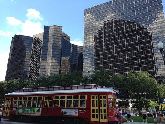 Hyatt Regency New Orleans: taken across the hotel on our way to the French Quarter