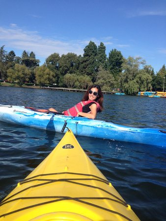 Green Lake Park : good place to rent a canoe