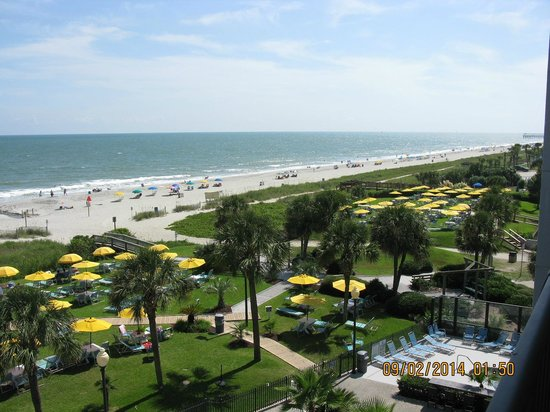 Dayton House Resort: Typical day looking off my balcony!
