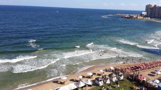 Hilton Alexandria Corniche: view sea from my room