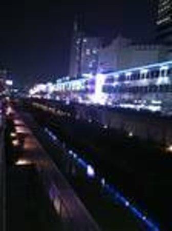 Cheonggyecheon: 夜