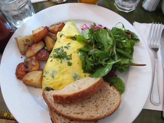 Mogador Cafe: omelette chèvre