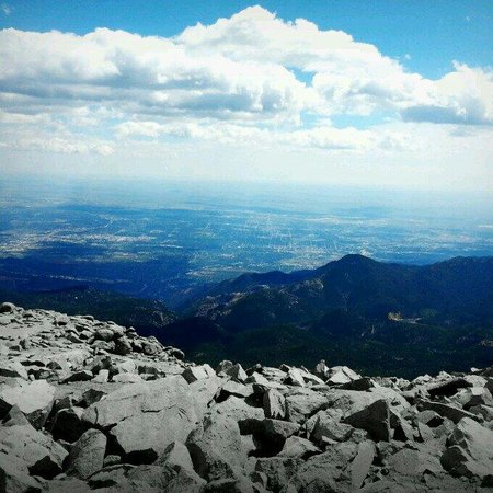 Pikes Peak Cog Railway: At 14,100 ft...it's ought to be heavenly. 