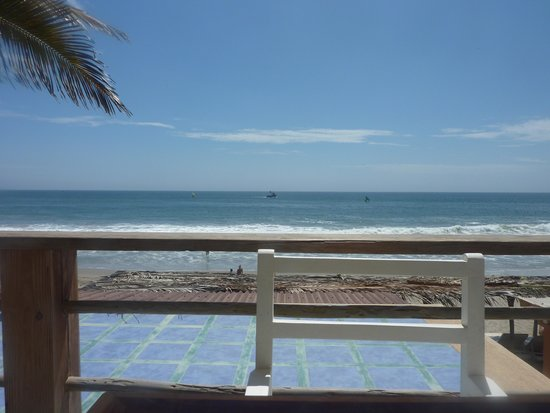 Puerto Palos : View from the terrace / swimming pool