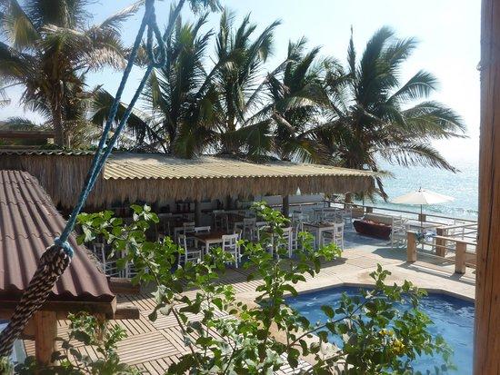Puerto Palos : The terrace / swimming pool