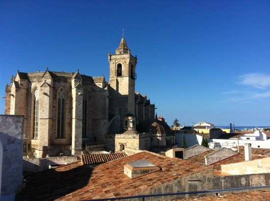 Hotel Tres Sants : Panorama dal terrazzo sul tetto