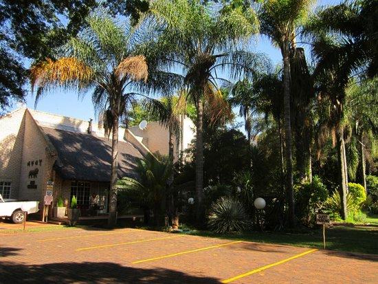 Lion's Guesthouse: Parking area